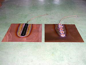 接地極 銅板(左:国土交通省型 右:一般型)